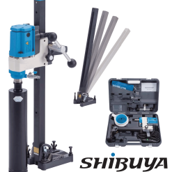 Shibuya Coredrill H1012 (1 speed) Motor and Angle Drill Stand