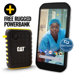 CAT S42 H+ Essential Rugged Phone with Germ Defence (FREE IP65 Rugged Powerbank)